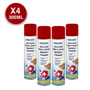 Spray Antiviral Desinfectante Hycolin Multisuperficie Pack 4 Unidades 300ml